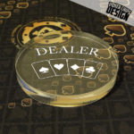 "Bouton de Dealer ""Four Suits"""