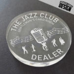 "Bouton de Dealer ""The Jazz Club"""