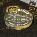 """Bouton de Dealer """"Las Vegas"""""""
