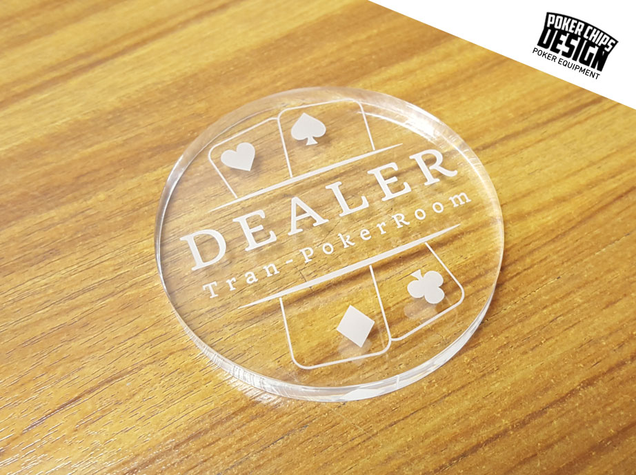 Custom poker buttons