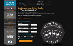 Modifiez les textes et la forme du Bouton de Dealer